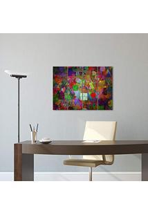 Placa Painel Decorativa Em Mdf Foto Abstrato Colorido Kit 4 Placas