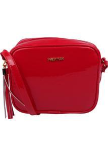 Bolsa Transversal Factor Fashion - Lisa Verniz Vermelha - Vermelho - Feminino - Dafiti