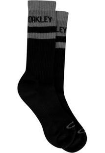 Meia Oakley Cano Alto Mod Atlhetic Sock Masculina - Masculino