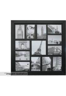 Painel Para 13 Fotos- Preto- 55X55X3Cmkapos