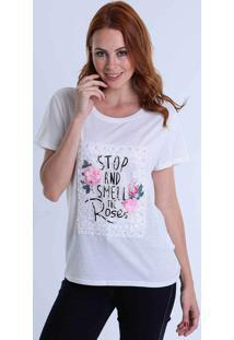 Camiseta Rendada Facinelli