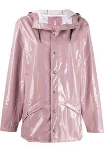 Rains Jaqueta Impermeável Com Capuz - Rosa
