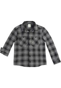 Camisa Xadrez Infantil Menino Em Tecido Fio Tinto De Algodão Puc