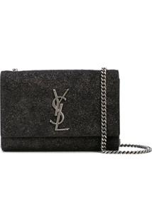 Saint Laurent Bolsa Tiracolo Kate Monogram - Preto