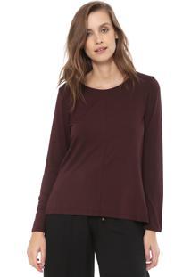 Camiseta Liz Easywear Recortes Bordô