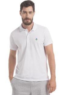 Camisa Polo Piquet Zaiden Style S1 Masculina - Masculino-Branco