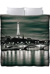 Edredom Colours Creative Photo Decor - Paisagem Em Paris Cinza