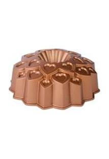 Forma Antiaderente De Aluminio Fundido Amour Dourada 24,5X8,5Cm
