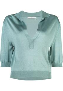 Tibi Camisa Polo Crispy - Azul
