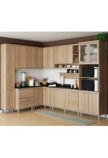 Cozinha Compacta Com Tampo 10 Peças 5803-S2T - Sicília - Multimóveis - Argila Acetinado