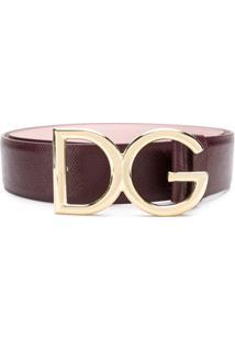 Dolce & Gabbana Cinto De Couro - Rosa