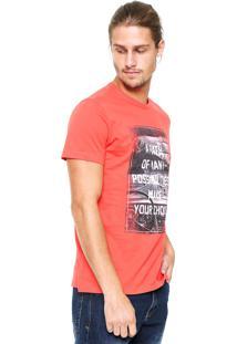 Camiseta Malwee Estampada Laranja