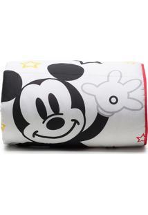 Edredom Mickey® Play Solteiro- Branco & Vermelho- 15Santista