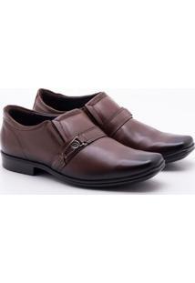 Sapato Social Pegada Couro Pinhão Masculino 37