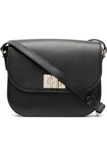 Furla Flip Lock Shoulder Bag - Preto