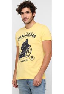 Camiseta Sommer Estampa Challenge - Masculino-Amarelo