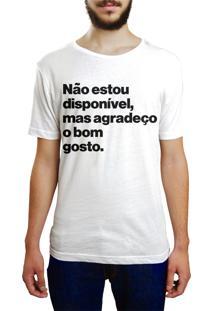 Camiseta Hunter Não Estou Disponível Branca