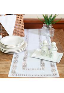 Toalha De Mesa Retangular Rainha Branca (35X100)