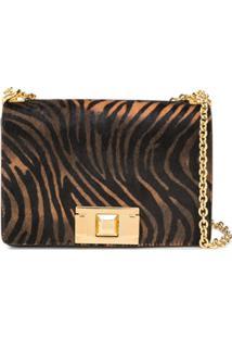 Furla Tiger Print Crossbody Bag - Preto
