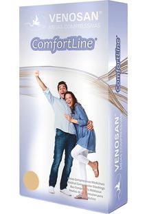 Meia Calça Venosan Confortline 20-30 Mmhg G (Tamanho Grande) Curto, Cor Bege, Ponteira Aberta