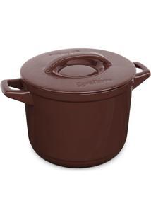 Caçarola Alta Cerâmica Duo+ 24Cm 7L Chocolate Ceraflame