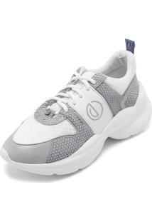 b0ee12ad4 ... Tênis Couro Dumond Dad Sneaker Chunky Branco/Cinza