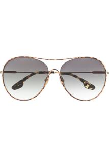 Victoria Beckham Óculos De Sol Vb131S - Marrom