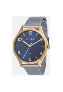 Kit Relógio Feminino Lince Lrt4599L Kw33D2Sx Analógico 5Atm + Pulseira | Lince | Azul | U