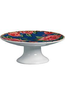 Prato Para Bolo De Cerâmica Caruaru Maison Blanche 27X10,5Cm - 28267