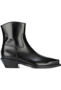 Dolce & Gabbana Ankle Boot De Couro - Preto