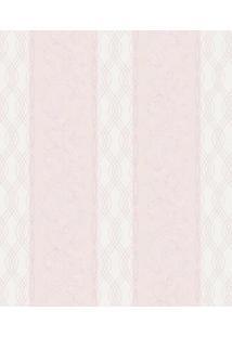 Papel De Parede Arabescos- Rosa & Bege Claro- 52X100Shark Metais