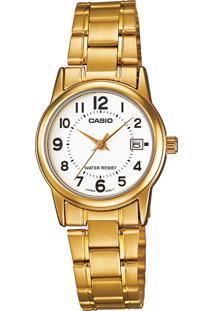 Relógio Casio Ltpv002G7Budf Dourado