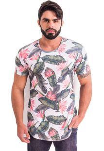 Camisetaadvance Clothing Tropical Branca/Verde