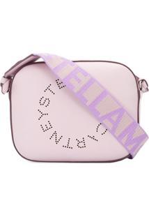 Stella Mccartney Logo Strap Cross Body Bag - Roxo