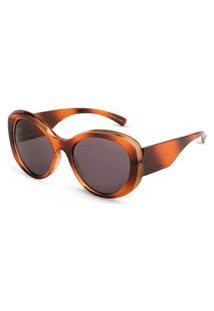 Óculos De Sol Vivara Arredondado Em Acetato Marrom