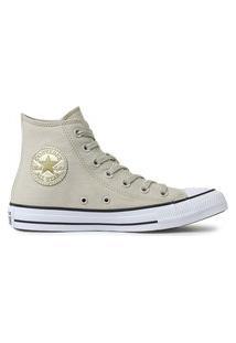 Tênis Converse Chuck Taylor All Star Hi Bege Claro/Ouro