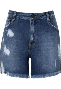 Shorts Jeans Relax Vintage (Jeans Medio, 36)