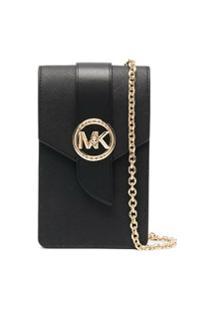 Michael Michael Kors Smartphone Leather Crossbody Bag - Preto