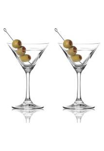 Taça De Martini, Jogo Com 2 Taças Em Vidro 280Ml