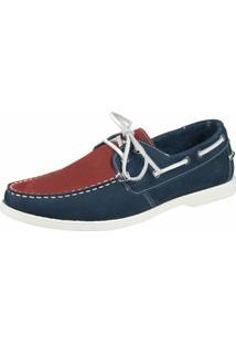 Dockside Shoes Grand Azul Vermelho