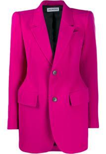 Balenciaga Blazer Estruturado - Rosa