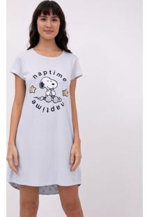 Camisola Manga Curta Estampa Localizada Snoopy
