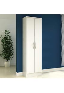 Armário Multiuso 2 Portas Iluminat Branco - Manto Móveis