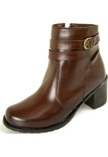 Bota Não Possui Cadarço Ankle Boot Dhatz Com Fivela Pinhão