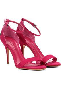 Sandália Em Suede Capodarte Salto Alto Feminina - Feminino-Pink