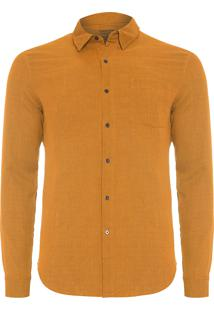 Camisa Masculina Duo Color - Marrom