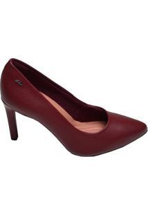 Sapato Feminino Scarpin Nerua Dakota Bordô Merlot