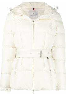 Moncler Belted Padded Jacket - Branco