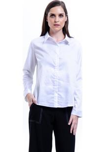 Camisa 101 Resort Wear Tricoline Elastano Branco