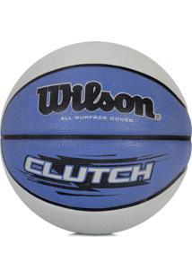 Bola De Basquete Clutch 295 Azul/Cinza - Nba Wilson